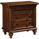 Broyhill Cascade 3 Drawer Nightstand in Arid Brown 4940-293