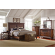 Broyhill Cascade 4-Piece Panel Bedroom Set in Arid Brown