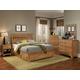 Carolina Furniture Sterling Panel Bedroom Set in Clear Oak