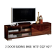 ESF Furniture Capri TV Stand in Walnut