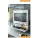 ESF Furniture Granada TV Panel in White