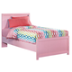 Bronett Twin Panel Bed in Pink
