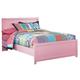 Bronett Full Panel Bed in Pink