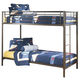 Benjamin Twin/Twin Metal Bunk Bed in Bronze B127-59