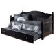 Jaidyn Twin Day Bed with Trundle Panel in Black