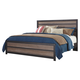 Harlinton King Panel Bed in Warm Gray/Charcoal