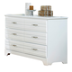 Carolina Furniture Platinum Double Dresser in White 515600