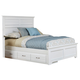 Carolina Furniture Platinum Queen Panel Storage Bed in White