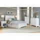 Carolina Furniture Platinum Panel Storage Bedroom Set in White