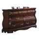 Meridian Alexandria 7 Drawer Dresser in Dark Wood