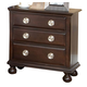 Meridian Brooke 3 Drawer Nightstand in Espresso