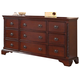 Meridian Manor 9 Drawer Dresser in Cherry