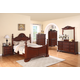 Meridian Manor 4-Piece Poster Bedroom Set in Cherry
