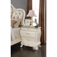Meridian Marquee 2 Drawer Nightstand in Pearl White