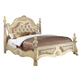 Meridian Monaco Queen Leather Poster Bed in White
