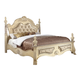 Meridian Monaco King Leather Poster Bed in White