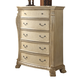 Meridian Monaco 5 Drawer Chest in White