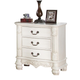 Meridian Riviera 3 Drawer Nightstand in Antique White