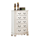 Meridian Riviera 5 Drawer Chest in Antique White