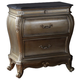 Meridian Roma 2 Drawer Nightstand in Antique Silver