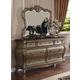 Meridian Roma 7 Drawer Dresser in Antique Silver