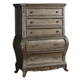 Meridian Roma 5 Drawer Chest in Antique Silver