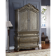 Meridian Roma Armoire in Antique Silver