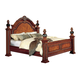 Meridian Royal King Panel Bed in Cherry