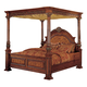 Meridian Royal Queen Poster Bed in Cherry