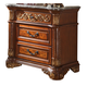 Meridian Royal 3 Drawer Nightstand in Cherry