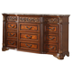 Meridian Royal 12 Drawer Dresser in Cherry