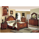 Meridian Royal 4-Piece Panel Bedroom Set in Cherry