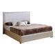ESF Furniture 643 Trenzado Queen Platform Bed in Mokka