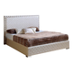 ESF Furniture 643 Trenzado Full Platform Bed in Mokka