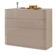 ESF Furniture 643 Trenzado Dresser C102 in Mokka
