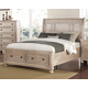 New Classic Furniture Allegra King Storage Bed in Pewter