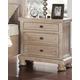 New Classic Furniture Allegra Nightstand in Pewter B2159-040