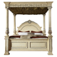 Meridian Sienna Queen Poster Bed in White