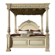 Meridian Sienna King Poster Bed in White