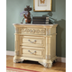 Meridian Sienna 3 Drawer Nightstand in White