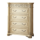 Meridian Sienna 5 Drawer Chest in White