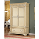 Meridian Sienna Armoire in White