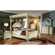Meridian Sienna 4-Piece Poster Bedroom Set in White