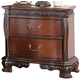New Classic Furniture Elsa Nightstand in Mahogany B1404-040