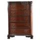 New Classic Furniture Elsa Chest in Mahogany B1404-070