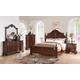 New Classic Furniture Elsa Bedroom Set in Mahogany B1404-SET