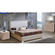 ESF Furniture 643 Trenzado 4-Piece Platform Bedroom Set in Mokka