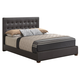 Global Furniture 8101 Queen PU Bed in Brown