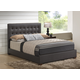 Global Furniture 8101 King PU Bed in Brown