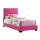 Global Furniture 8103 Twin PU Bed in Pink